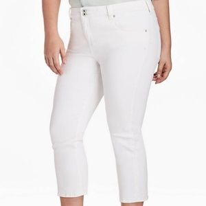 Lucky Brand Emma Cropped Jean In Clean White 18W